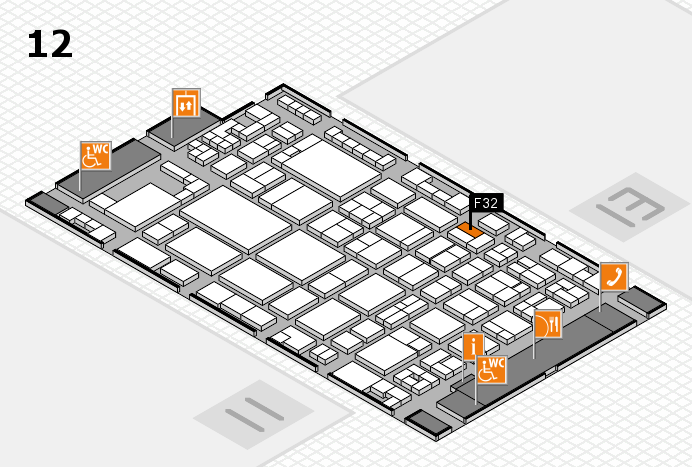glasstec 2016 Hallenplan (Halle 12): Stand F32