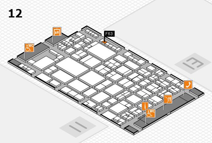 glasstec 2016 hall map (Hall 12): stand F63