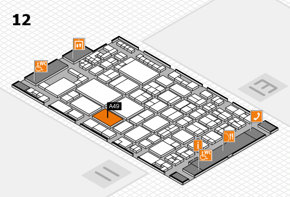 glasstec 2016 hall map (Hall 12): stand A49