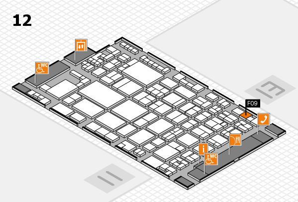 glasstec 2016 Hallenplan (Halle 12): Stand F09