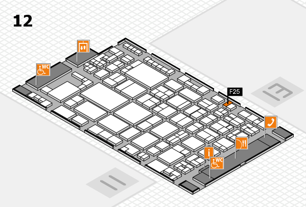 glasstec 2016 hall map (Hall 12): stand F25