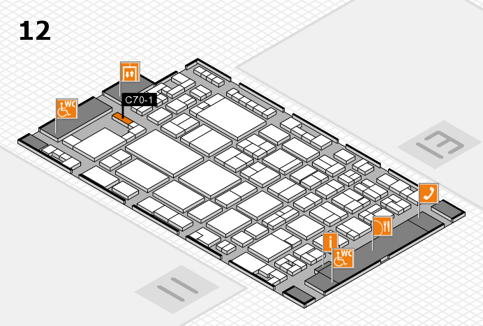 glasstec 2016 hall map (Hall 12): stand C70-1