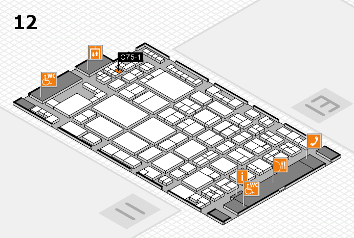 glasstec 2016 hall map (Hall 12): stand C75-1