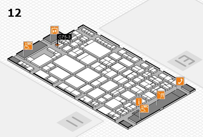 glasstec 2016 Hallenplan (Halle 12): Stand C75-3