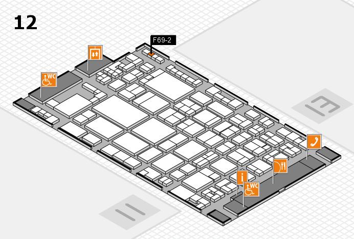 glasstec 2016 Hallenplan (Halle 12): Stand F69-2