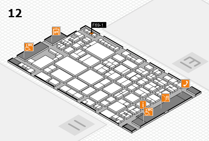 glasstec 2016 hall map (Hall 12): stand F69-1