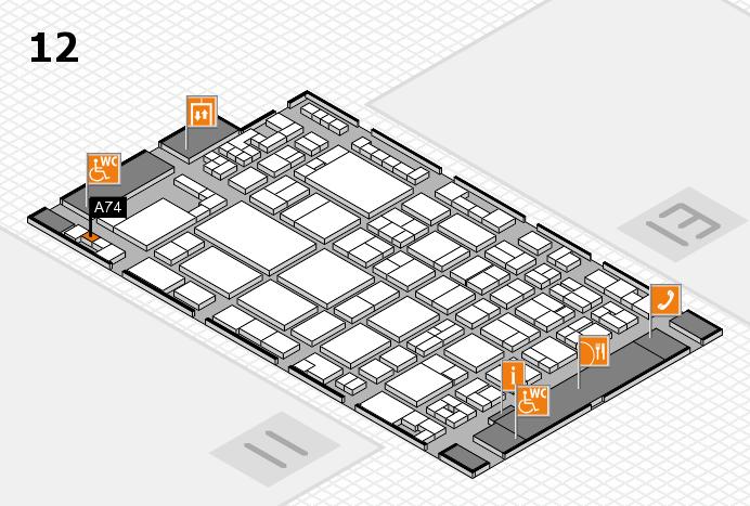 glasstec 2016 hall map (Hall 12): stand A74