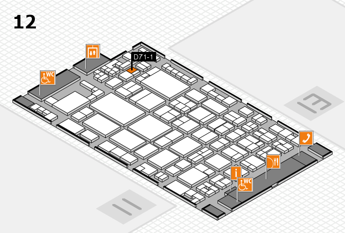 glasstec 2016 hall map (Hall 12): stand D71-1