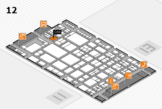 glasstec 2016 Hallenplan (Halle 12): Stand C69