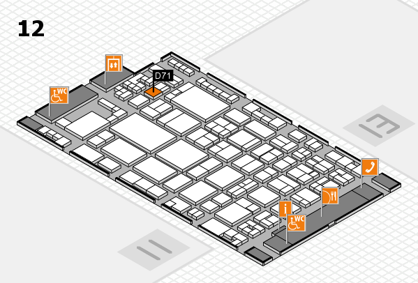 glasstec 2016 hall map (Hall 12): stand D71