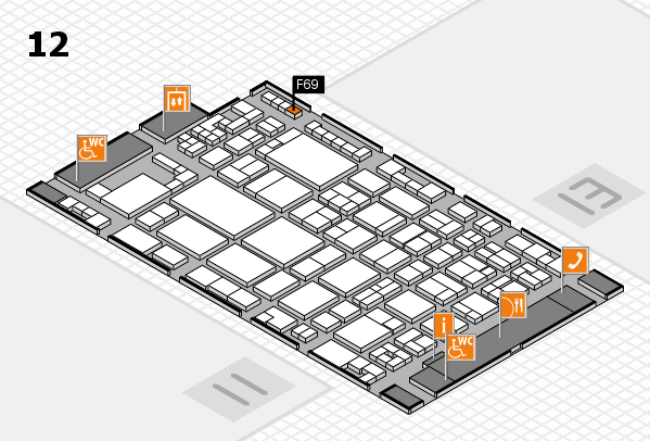 glasstec 2016 hall map (Hall 12): stand F69