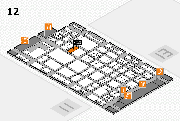 glasstec 2016 hall map (Hall 12): stand C59