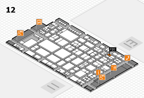 glasstec 2016 hall map (Hall 12): stand F20