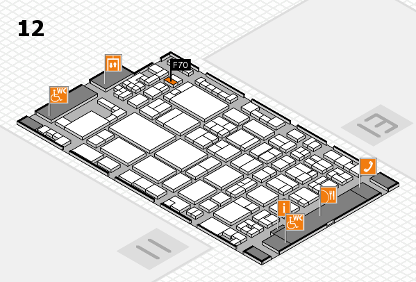 glasstec 2016 hall map (Hall 12): stand F70