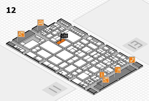 glasstec 2016 hall map (Hall 12): stand C59