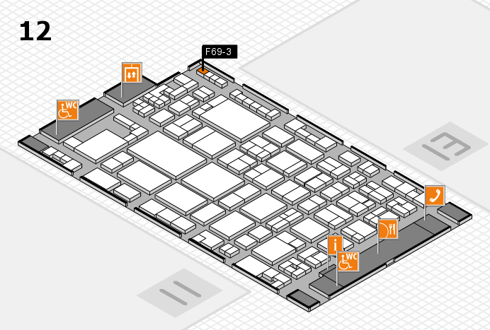 glasstec 2016 hall map (Hall 12): stand F69-3