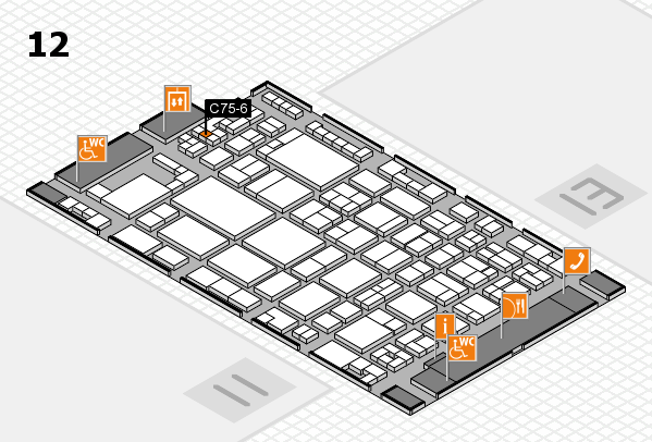 glasstec 2016 Hallenplan (Halle 12): Stand C75-6