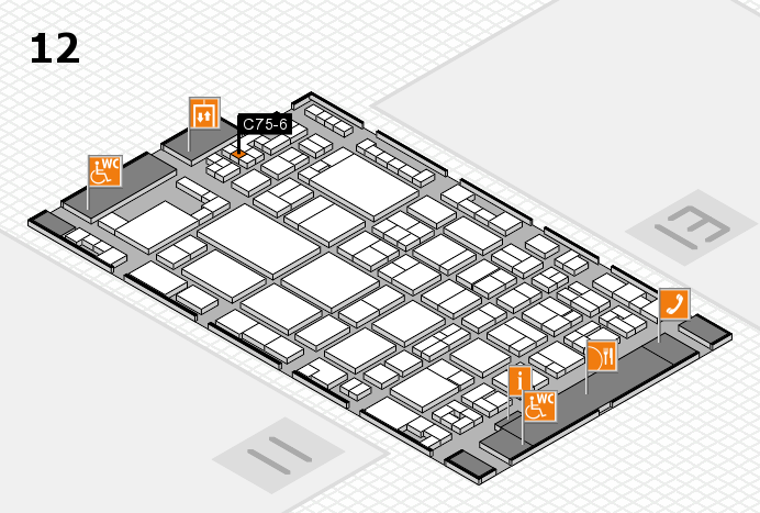 glasstec 2016 hall map (Hall 12): stand C75-6