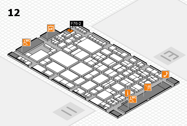 glasstec 2016 hall map (Hall 12): stand F76-2