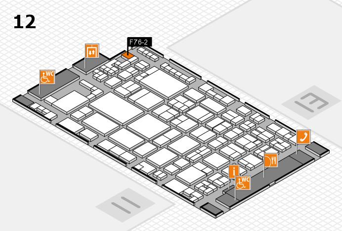 glasstec 2016 Hallenplan (Halle 12): Stand F76-2