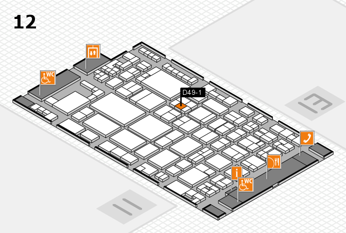 glasstec 2016 hall map (Hall 12): stand D49-1