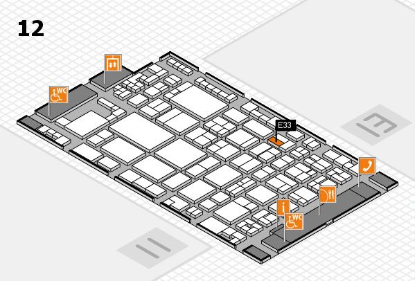 glasstec 2016 hall map (Hall 12): stand E33