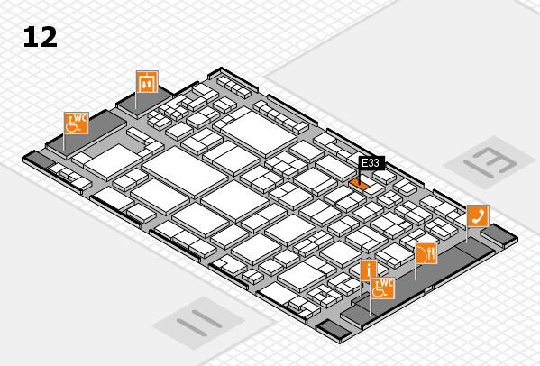 glasstec 2016 Hallenplan (Halle 12): Stand E33