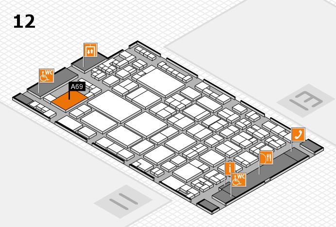glasstec 2016 hall map (Hall 12): stand A69
