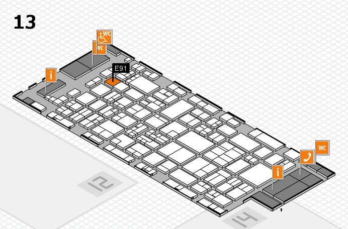 glasstec 2016 Hallenplan (Halle 13): Stand E91