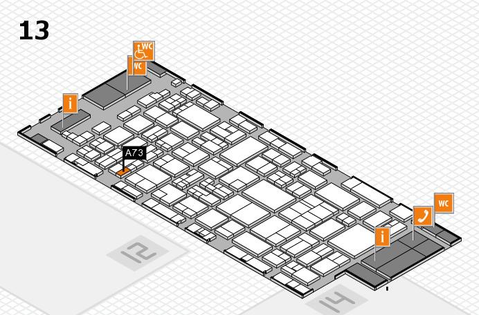 glasstec 2016 hall map (Hall 13): stand A73