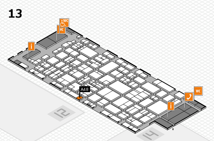 glasstec 2016 hall map (Hall 13): stand A48