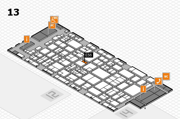 glasstec 2016 hall map (Hall 13): stand E56