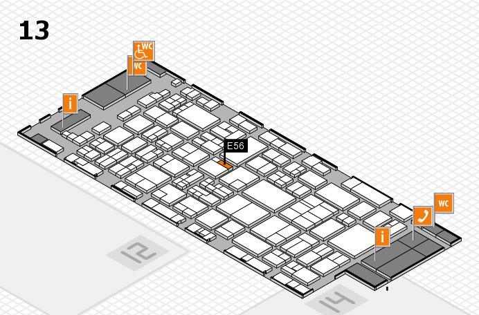 glasstec 2016 hall map (Hall 13): stand E56