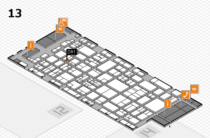 glasstec 2016 hall map (Hall 13): stand D81