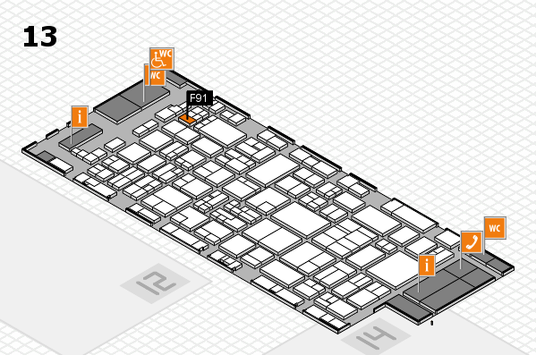 glasstec 2016 hall map (Hall 13): stand F91