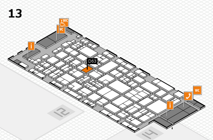 glasstec 2016 hall map (Hall 13): stand D63