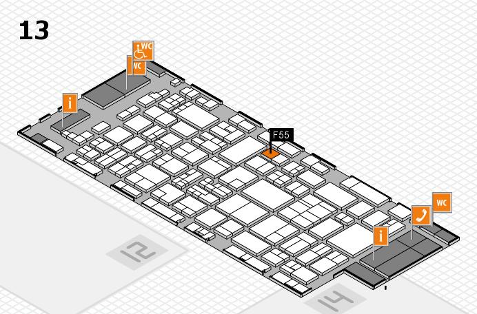 glasstec 2016 hall map (Hall 13): stand F55