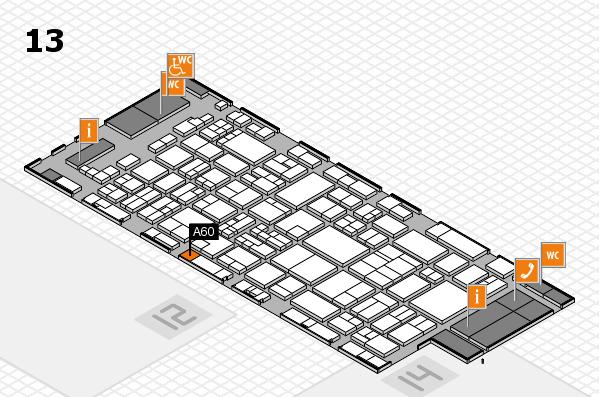 glasstec 2016 hall map (Hall 13): stand A60