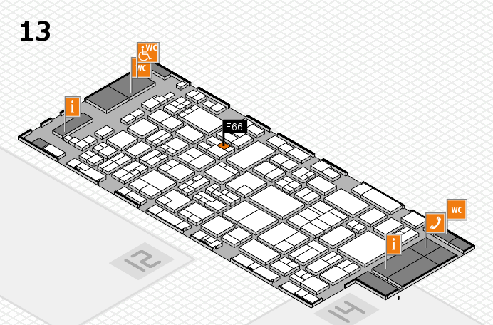 glasstec 2016 hall map (Hall 13): stand F66
