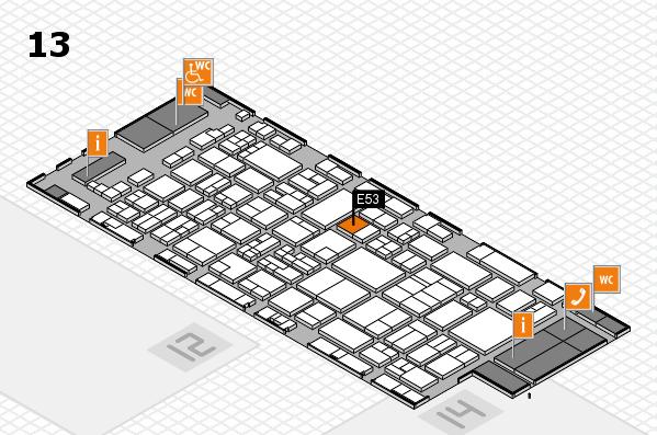 glasstec 2016 Hallenplan (Halle 13): Stand E53
