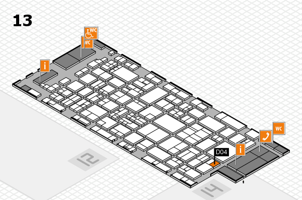 glasstec 2016 hall map (Hall 13): stand D04