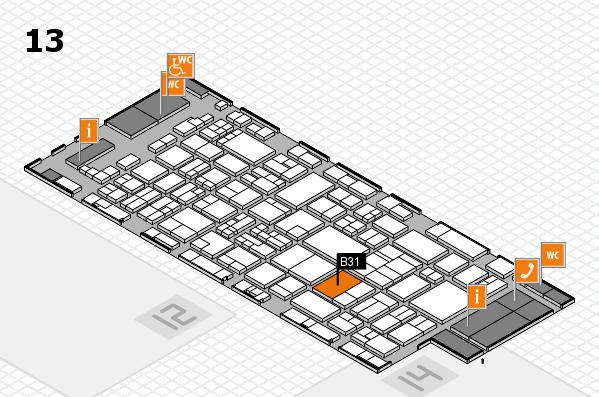 glasstec 2016 Hallenplan (Halle 13): Stand B31