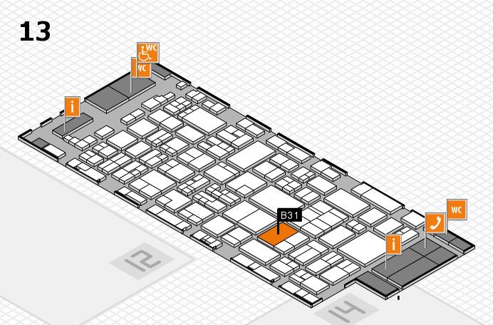 glasstec 2016 hall map (Hall 13): stand B31