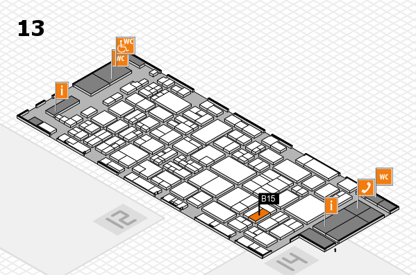 glasstec 2016 hall map (Hall 13): stand B15