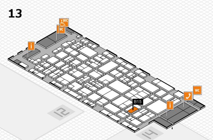 glasstec 2016 hall map (Hall 13): stand B15