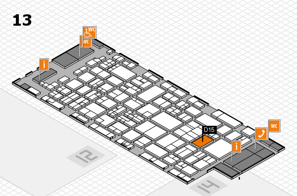 glasstec 2016 hall map (Hall 13): stand D15