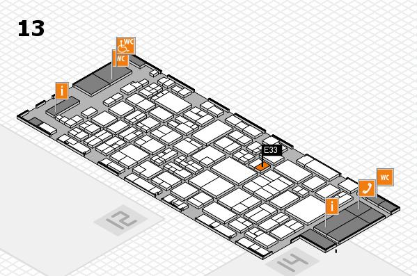 glasstec 2016 Hallenplan (Halle 13): Stand E33