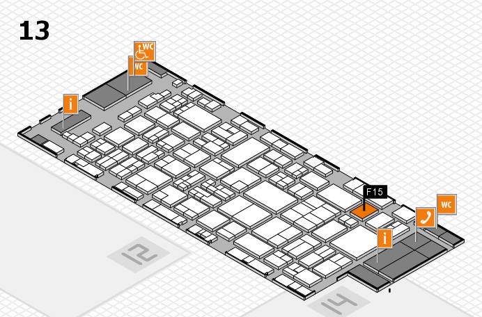 glasstec 2016 hall map (Hall 13): stand F15