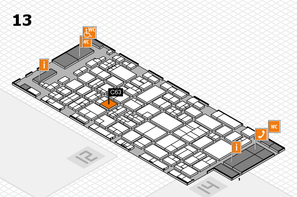 glasstec 2016 hall map (Hall 13): stand C63