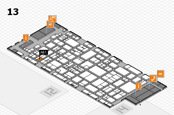 glasstec 2016 hall map (Hall 13): stand A81